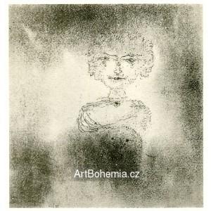 Bildnis einer Dame mit ihrem Schosshündchen (1925)