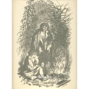 K.H.Mácha s Lori u ohníčku