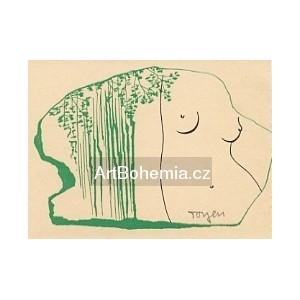 Půlakt u zeleného stromu