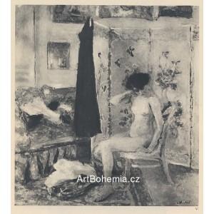 Femme nue devant un paravent japonaise (1912)