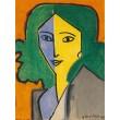 Madame L.D. - Portrait vert, bleu et jaune (1947)