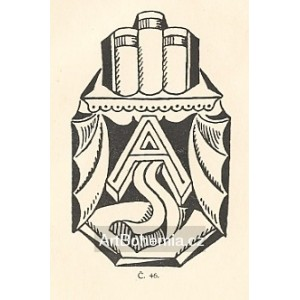 Tři vázané folianty - EXL JUDr. Skřivan, opus 46 (1919)