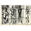 Čtyři kubistické figury