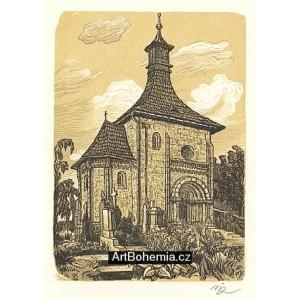 Románská kaple ve Vinci u Mladé Boleslavi (Severní Čechy)