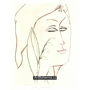 Dívčí tvář s konvalinkami, opus 856