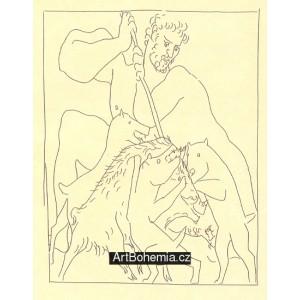 Méléagre tue le sanglier de Calydon (Les Métamorphoses d´Ovide)