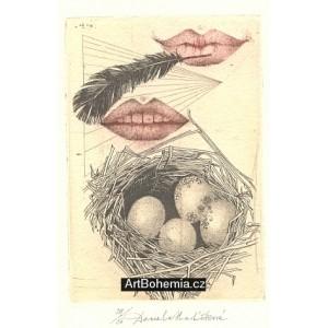 Rty a ptačí vejce v hnízdě (Halas: Já se tam vrátím)