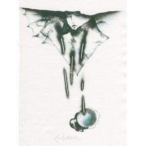 Guillaume Apollinaire: Pásmo - komplet 4 grafik
