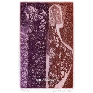 Dvě figury v pavučině - PF 1997 Dr.Vilém Stránský