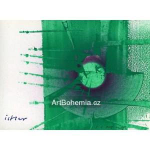 Zelená abstrakce - PF 1982 Josef Istler