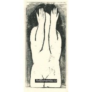Akt se zdviženýma rukama (nátisk)