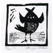 Ptáček hledící dopředu, opus 458 (černá varianta)