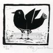 Ptáček hledící doprava, opus 459 (černá varianta)