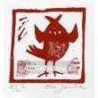 Ptáček hledící dopředu, opus 458 (červená varianta)