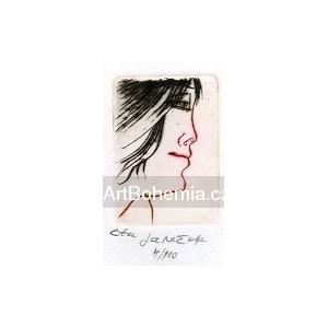 Černovláska z profilu, opus 844