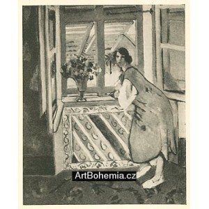 Femme accoudee a sa fenetre
