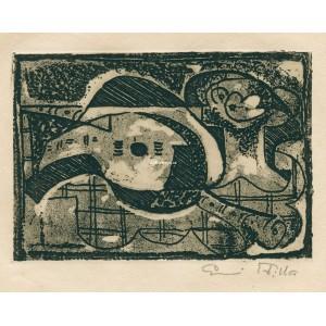 Kubistické zátiší s klarinetem, mandolínou a podnosem, opus 12
