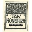 Jan Konůpek - vlastní exlibris