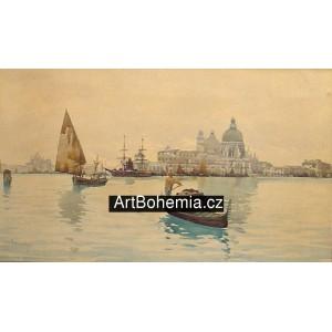 Gondola v benátské laguně