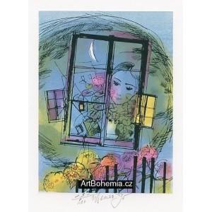 Dívčí tvář za oknem (prof.Karel Svolinský 1896-86)
