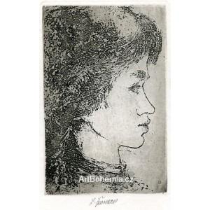 Profil dívčí hlavy, opus 350