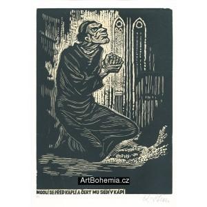 Modlí se před kaplí a čert mu sedí v kápí (Česká přísloví)