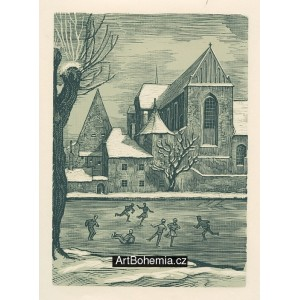 Klášterní kostel v zimě (České Budějovice)