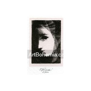 Dívčí hlavička v závoji, opus 1219