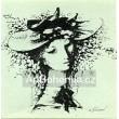 Dívka s květinovým kloboukem