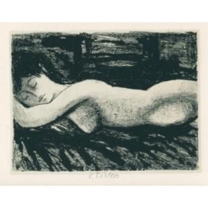 Spící dívčí akt