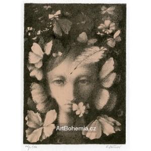 Motýlí dívka s pírkem, opus 1141
