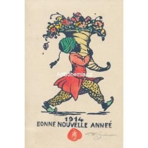 Arab s rohem hojnosti - PF 1914 T.F.Šimon