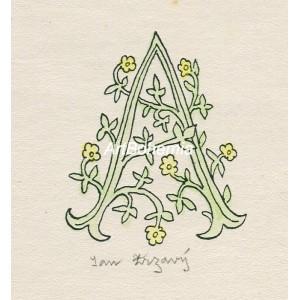 """Květinové """"A"""" (zelená varianta)"""