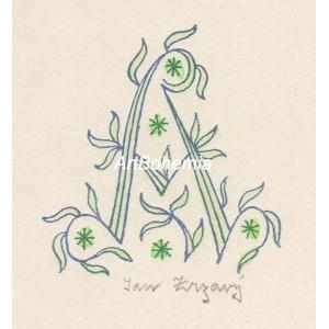 "Květinové ""A"" (modrá varianta)"
