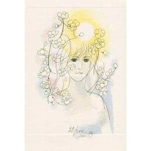 Jarní víla v květech