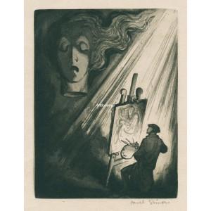 Malíř v ateliéru