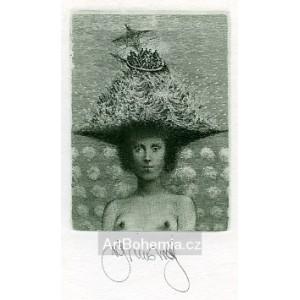 Dáma v klobouku VII - Lady with a Hat VII - PF´82 Brunovský, opus 492 (Editio 13