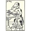 Pes čtoucí u stolu