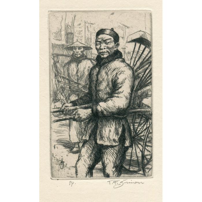 """Čínský pouliční """"Rikšo"""", opus 519 (Črty z Orientu)"""