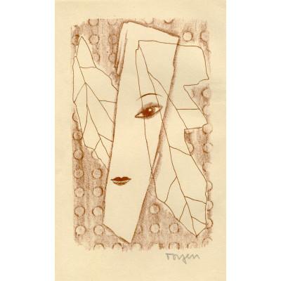 Dívčí tvář v čajových listech