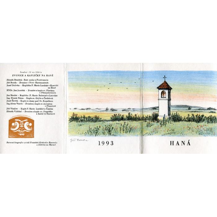Haná - Zvonice a  kapličky - soubor deseti grafik