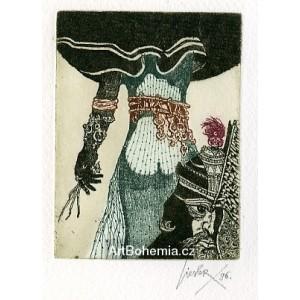 Dívka zezadu a hlava krále (Píseň písní) (Biblos)