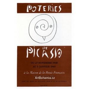 Poteries de Picasso - Maison de la Pensée Francaise, 1948 (Les Affiches original