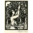 Dívka česající ovoce