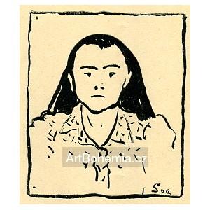 Portrét ženy (1906) (Červen)