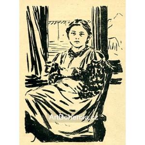 Dívka u okna (1906) (Červen)