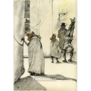 Dans les coulisses - L´Attente  (Le Cirque)