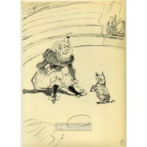 Clownesse et cochon (Le Cirque)