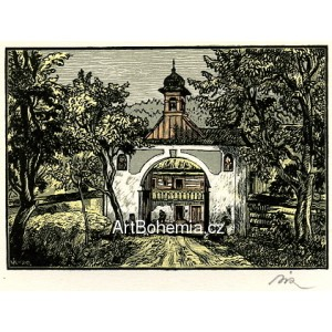 Brána Dlaskova statku v Dolánkách (Český ráj)