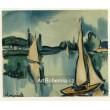 Voiliers sur la Seine - Sailing Boats on the Seine (1908)